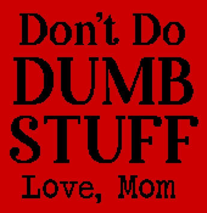 Don't Do Dumb Stuff (Mom)