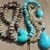 Long Beaded Necklace with Pendant Boho Glam Hand knot Personal Power Jewelry by