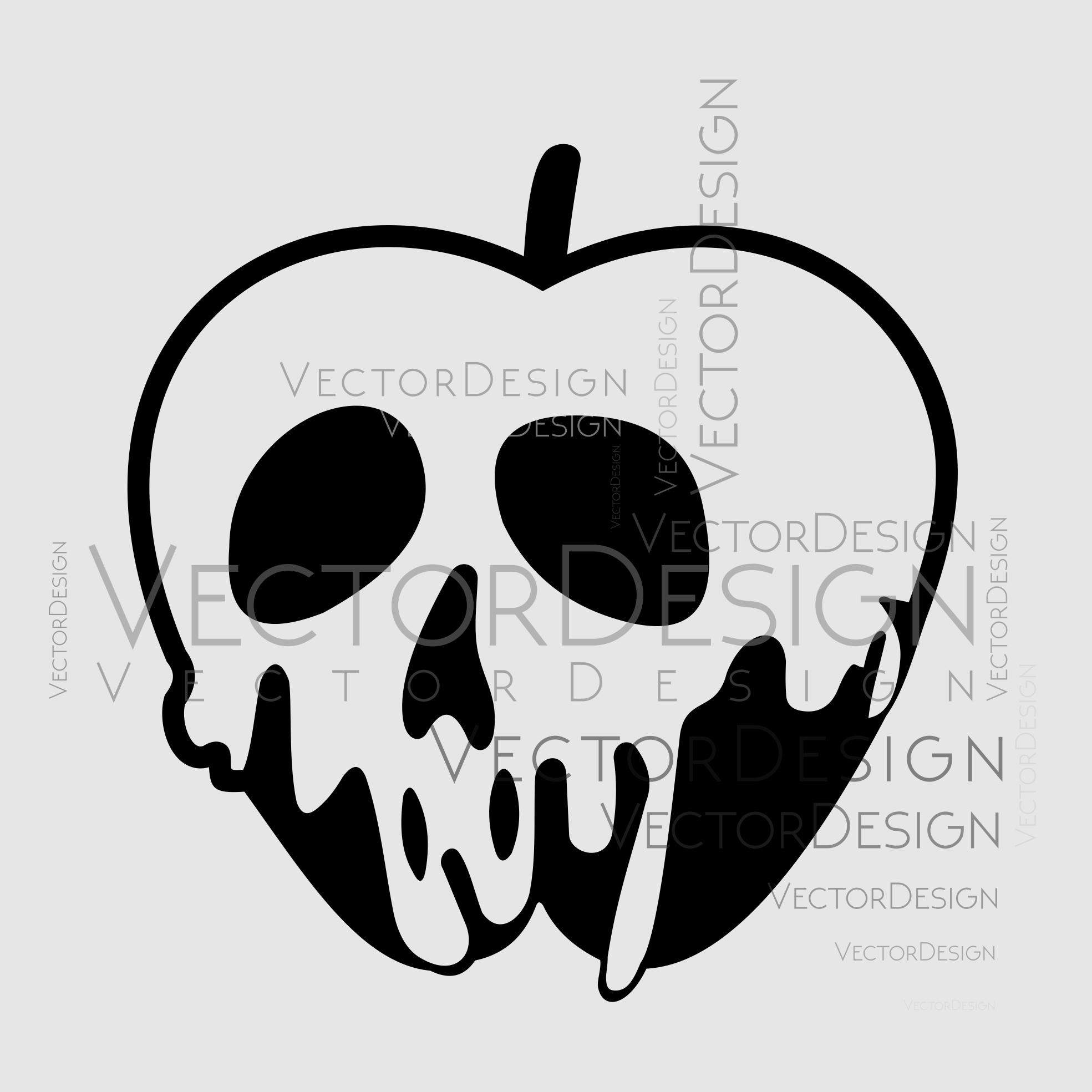Poison Apple svg Evil Queen Disney Halloween by ...