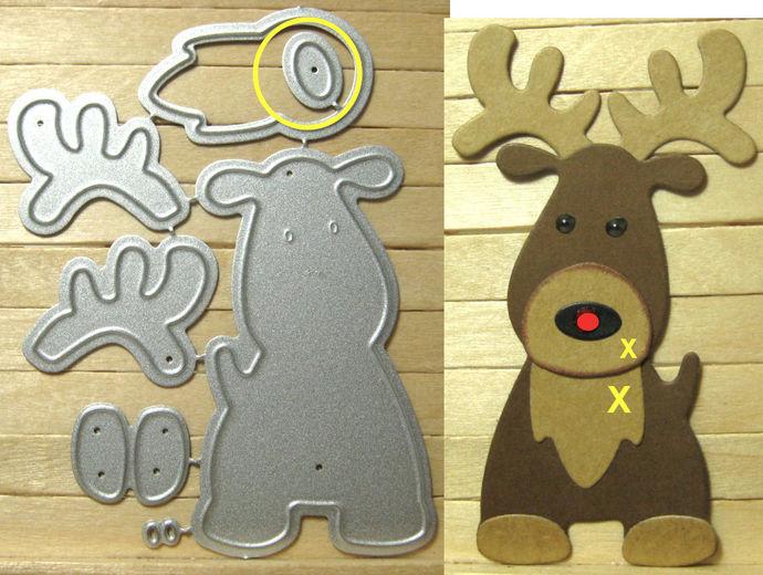 Reindeer Metal Cutting Die