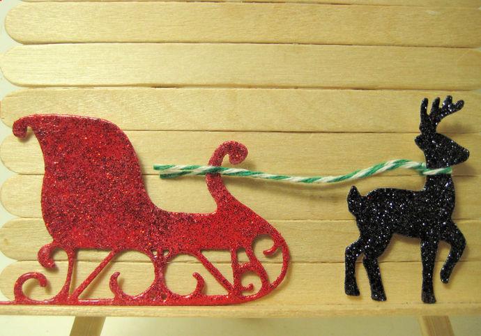 Sleigh and Reindeer Metal Cutting Die