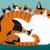 Calico Mom and Kittens Original Cat Folk Art Painting