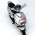 Coca Cola Silver Motorcycle Plastic Diecast Toy Figure 1990s