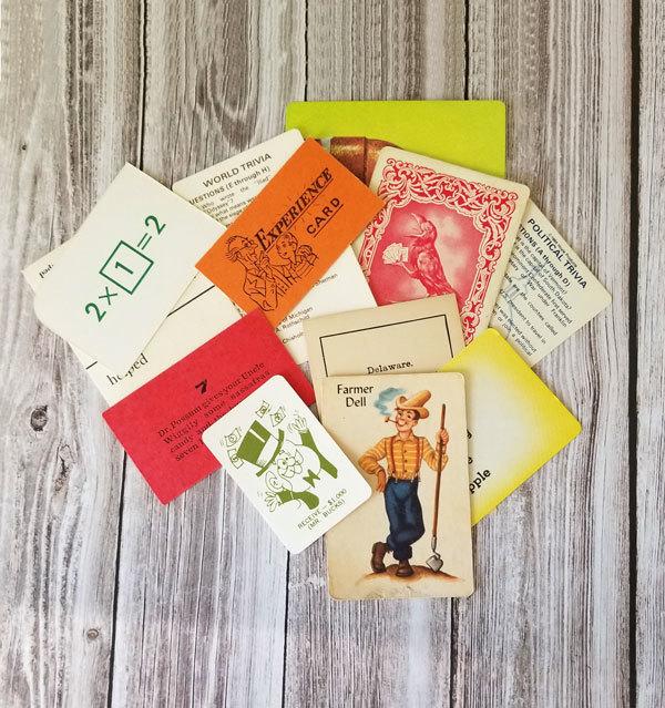 Vintage Game Card Ephemera