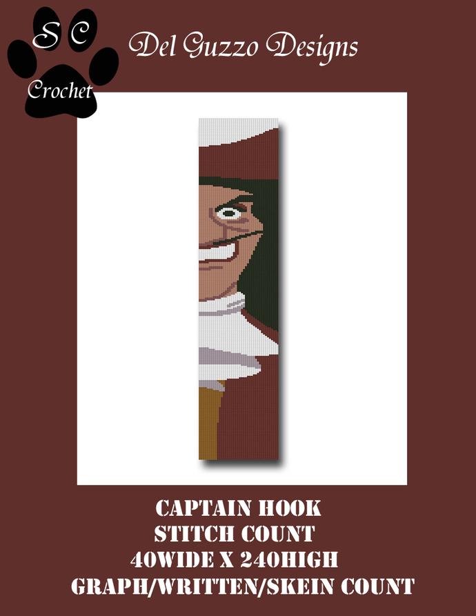 Villains Captain Hook 40x240 SC Scarf