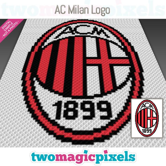 Ac Milan Logo Crochet Graph C2c Mini C2c By Twomagicpixels On