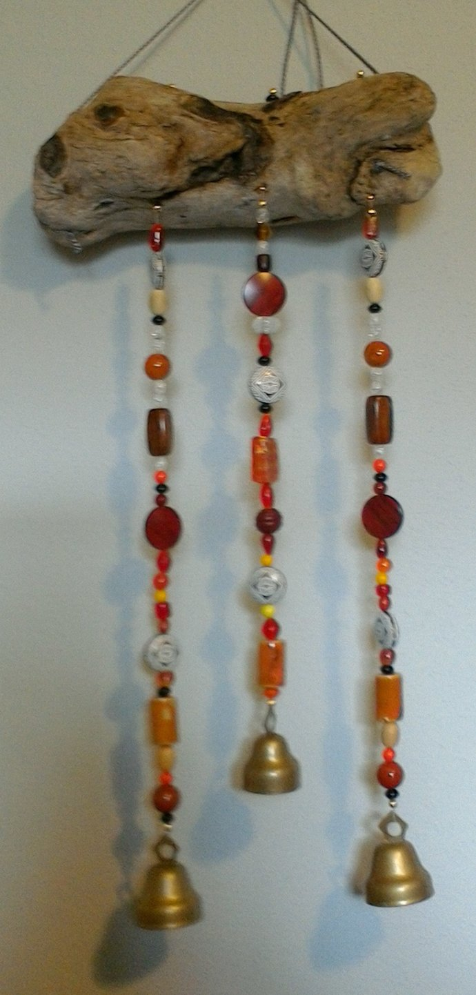 Windchime- Awesome Warm colors- Hung Art