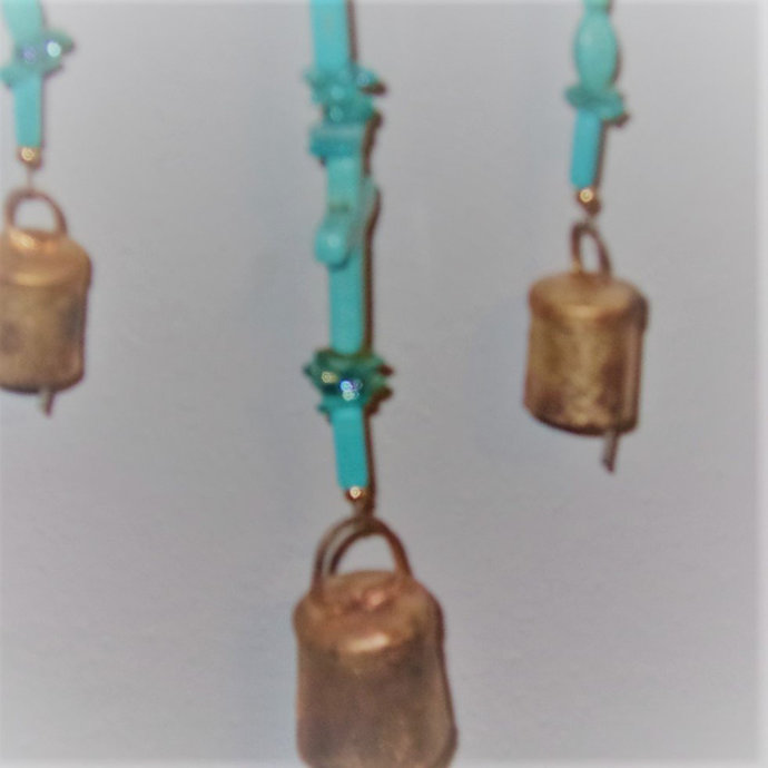 Windchime-Turquoise Cross- Earth ground attributes
