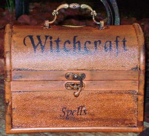 Primitive Witch Spells Chest purses purse box Magic Wicca Black Cats Witches