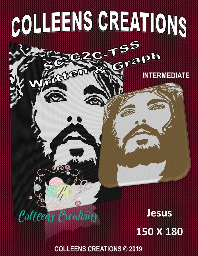 Jesus Crochet Written and Graph Design