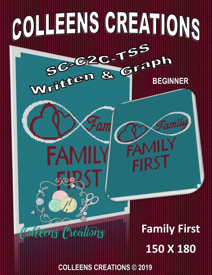 Family First Crochet Written and Graph Design
