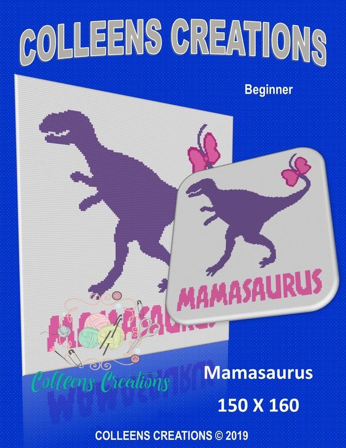 Mamasaurus Crochet Written and Graph Design