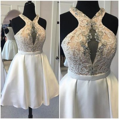 Elegant V-Neck A-Line Homecoming Dresses,Short Prom Dresses,Cheap Homecoming