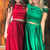 Two Piece Off Shoulder Green Long Prom Dress with Pockets P2255
