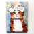 Spring Portrait Brown Tabby Original Cat Folk Art Painting