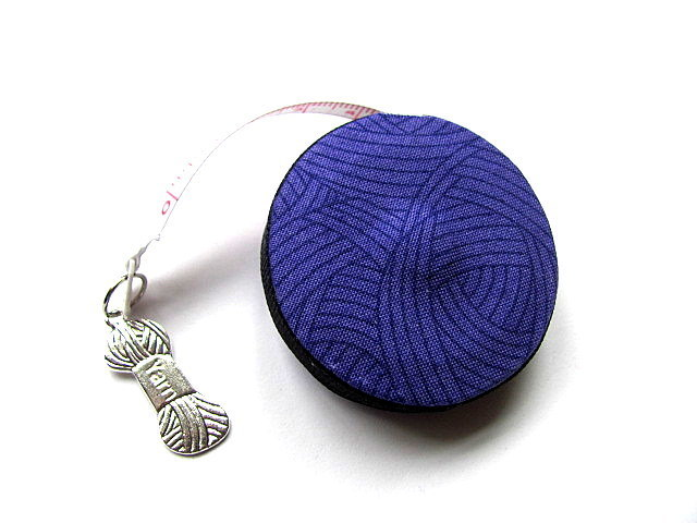 Retractable Tape Measure Deep Purple Yarn Balls Measuring Tape