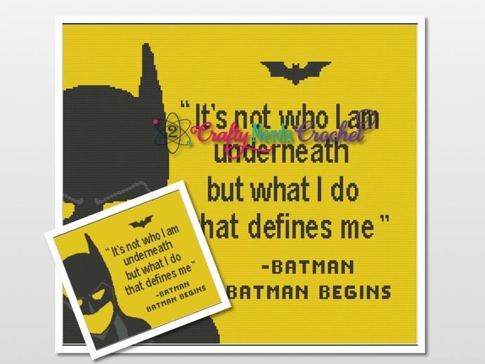 Batman Quote Pattern Graph With Single Crochet Written