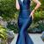 Off-the-shoulder Floor-length Mermaid Formal Dress, Taffeta Evening Dress