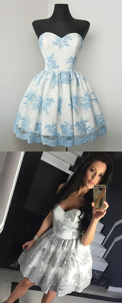 Sexy Sweetheart A-Line Homecoming Dresses,Short Prom Dresses,Cheap Homecoming