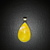 Yellow teardrop Pendant