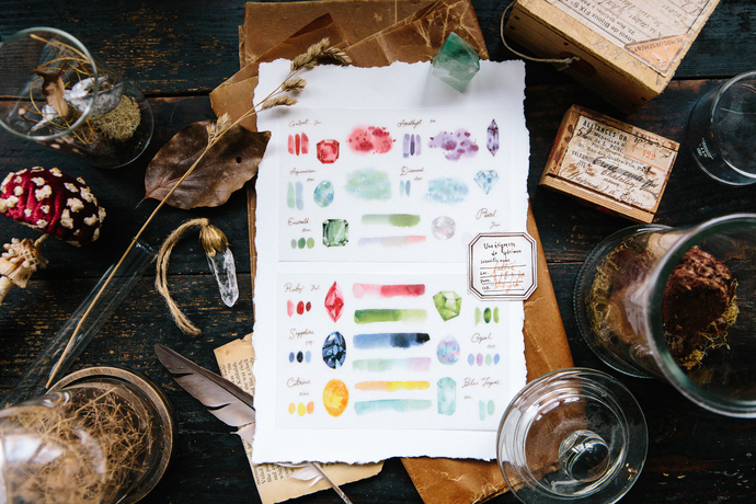 OURS Birthstones Transfer Sticker - perfect for journaling & happy mail