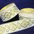 3.3 cm x 1 m • White/Gold Traditional Hmong Fabric Trim Ribbon
