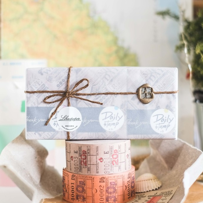Lihaopaper Daily stamp sets - contains 6 stamps - perfect for journaling & happy