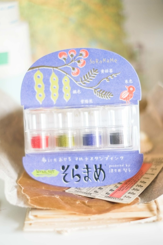 Soramame Stamp Ink set - contains 4 inks - perfect for journaling & happy mail -