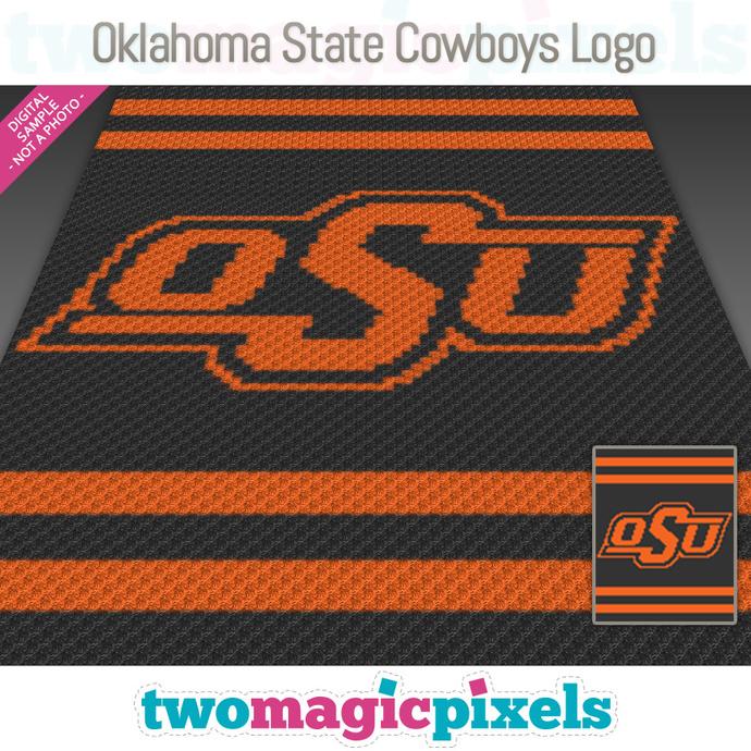Oklahoma State Cowboys Logo crochet graph (C2C, Mini C2C, SC, HDC, DC, TSS),