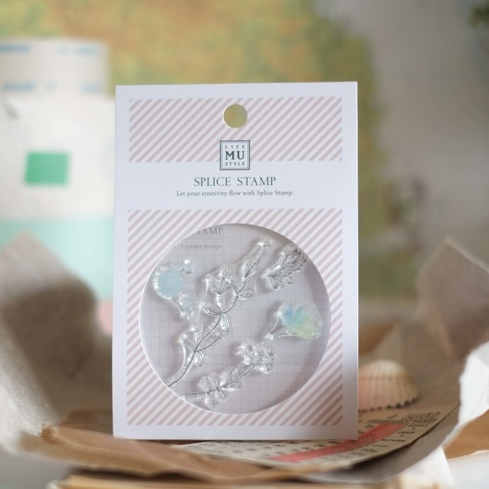 MU splice stamp - cling rubber stamp set - perfect for journaling & happy mail
