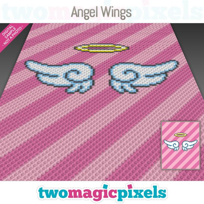 Angel Wings Crochet Graph C2c Mini C2c By Twomagicpixels On Zibbet