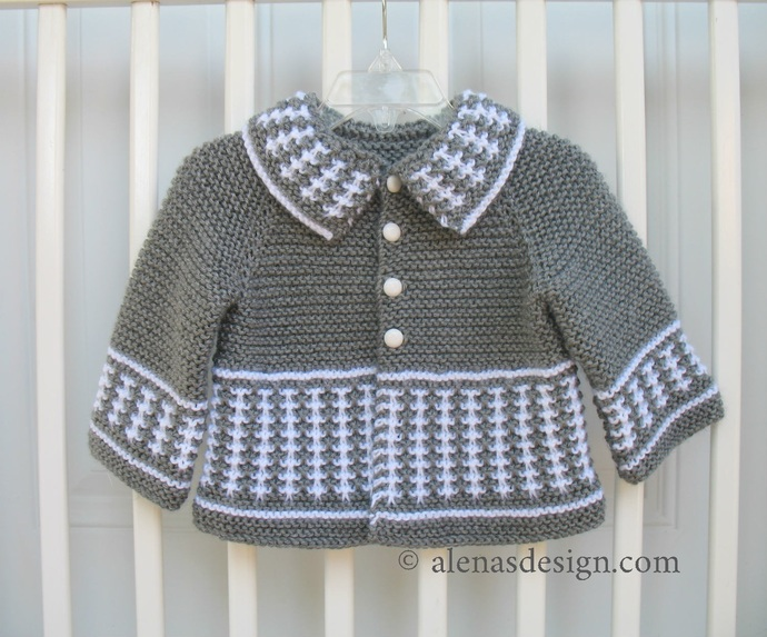 Knitting Pattern 230 Striped Jacket 3, 6, 12, 24 months Sweet Baby Cardigan