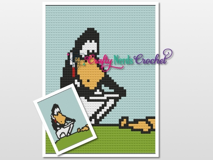 Opus Penguin Pattern Graph With C2C Written
