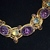 Art Glass Necklace Bracelet Faux Amethyst and Yellow Moonstone Demi