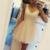 Elegant V-Neck A-Line Homecoming Dresses,Short Prom Dresses,Cheap Homecoming