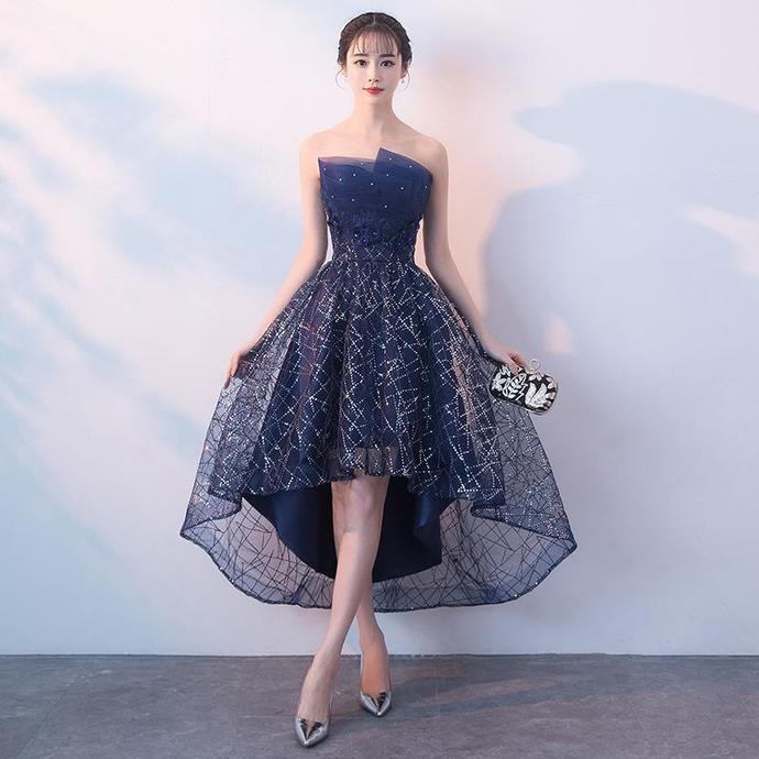 Stylish Blue Tulle New Homecoming Dress 2019, Short Party Dress 2019