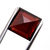 Orissa Garnet 10 mm Faceted Square Buff Top Semi Precious Loose Gemstone.