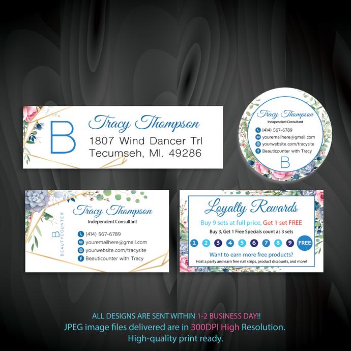 Beautycounter Bundle, Beautycounter Marketing Kit, Watercolor Beautycounter