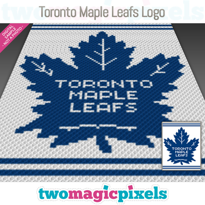 Toronto Maple Leafs Logo Crochet Graph By Twomagicpixels On Zibbet