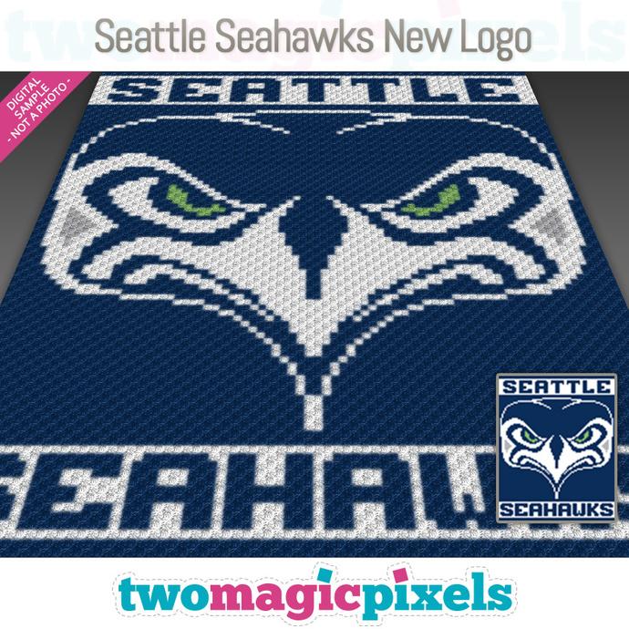 Seattle Seahawks New Logo Crochet Graph C2c Mini C2c Sc Hdc Dc Tss Cross Stitch Knitting Pdf Download No Counts Instructions