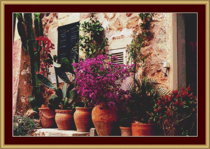 Tuscany Beauty Cross Stitch Pattern - Instant Digital Downloadable Pattern