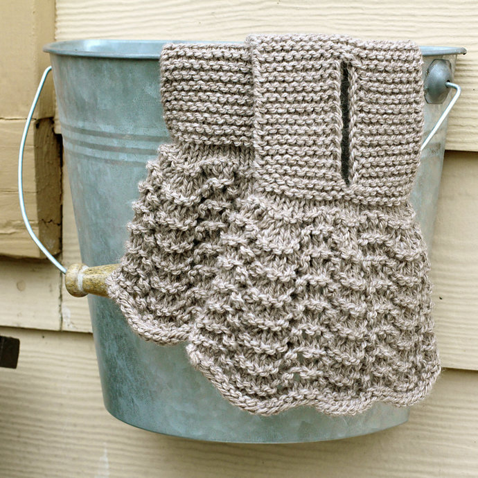 Keyhole Scarf, Lacy Knit Victorian