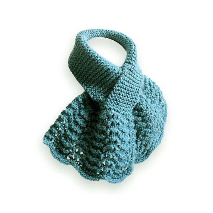 Knit Neck Warmer, Blue