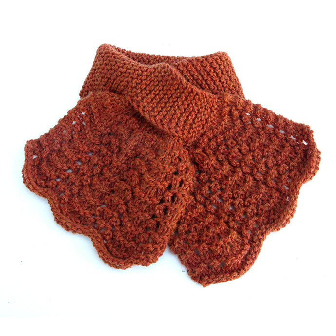 Keyhole Scarf Ladies, Burnt Orange