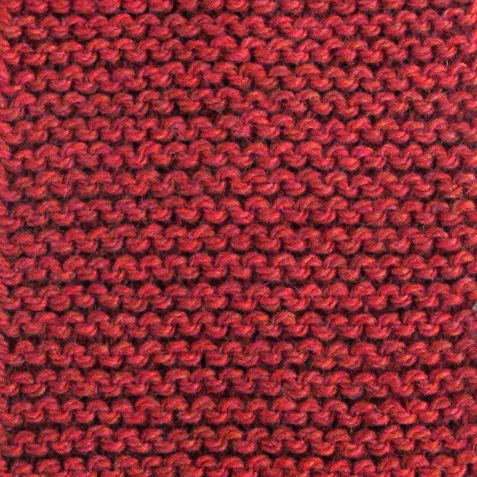 Knit Neck Scarf, Pull-Thru Keyhole Style, Red-Orange