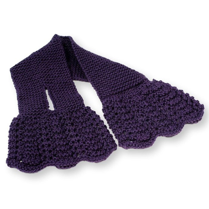 Neck Warmer Ladies, Dark Purple