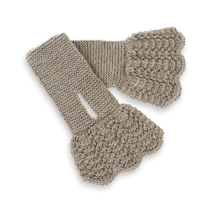 Lacy Keyhole Scarf, Neutral Taupe