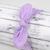 Adult Retro Bow Headband - Subtle Lavender Floral