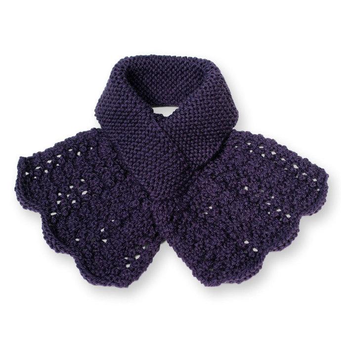 Ascot Lacy Knit, Dark Purple