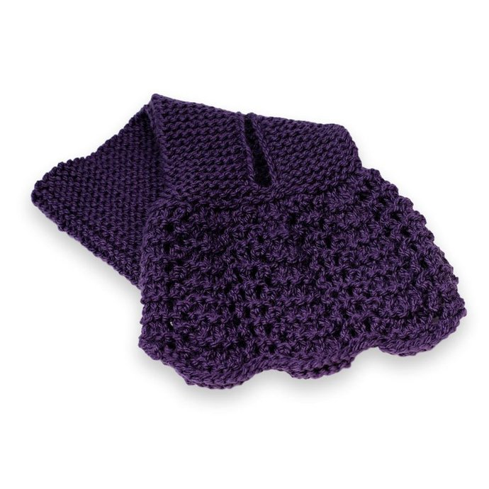 Ascot Lacy Knit, Dark Purple